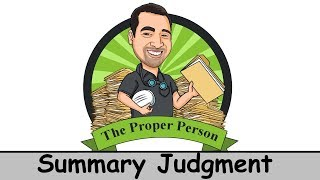 Legal Nuts And Bolts: Summary Judgment
