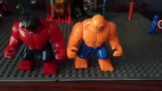 LEGO Custom Red Hulk and The Thing Minifigures Review