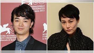 染谷將太(左)與菊地凛子(右)於2015年1月1日發表婚訊。(Pascal Le S...