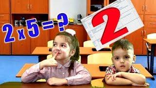Дети играют в школу Маша получила 2 по математике 1 серия