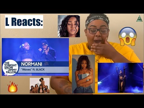 NORMANI - WAVES FEAT. 6LACK LIVE ON JIMMY FALLON | REACTION