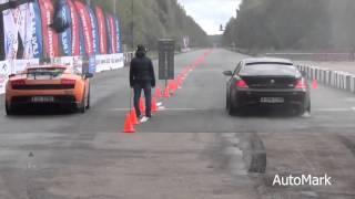 lamborghini superleggera vs audi rs6 bmw m6 e63 nissan gt r r35 drag race