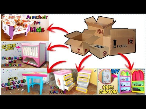 5 awesome DIY FURNITURES made WITH CARDBOARD for children ROOM | DIY CRAFTS AT HOME