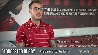 Gloucester Rugby - Preparing to Perform (Performance Analysis at Gloucester Rugby)