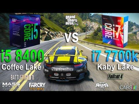 Intel Core I5-8400 Vs I7-7700k Test In 7 Games