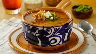 Sopa de rajas con elote