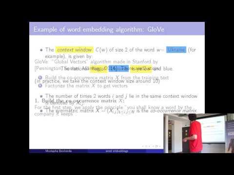 "AI&BigData Lab. Mostapha Benhenda. ""Word vector representation and applications"""