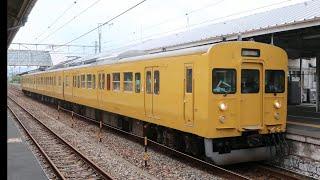 115系3連 山陽本線(上り)金光駅発車