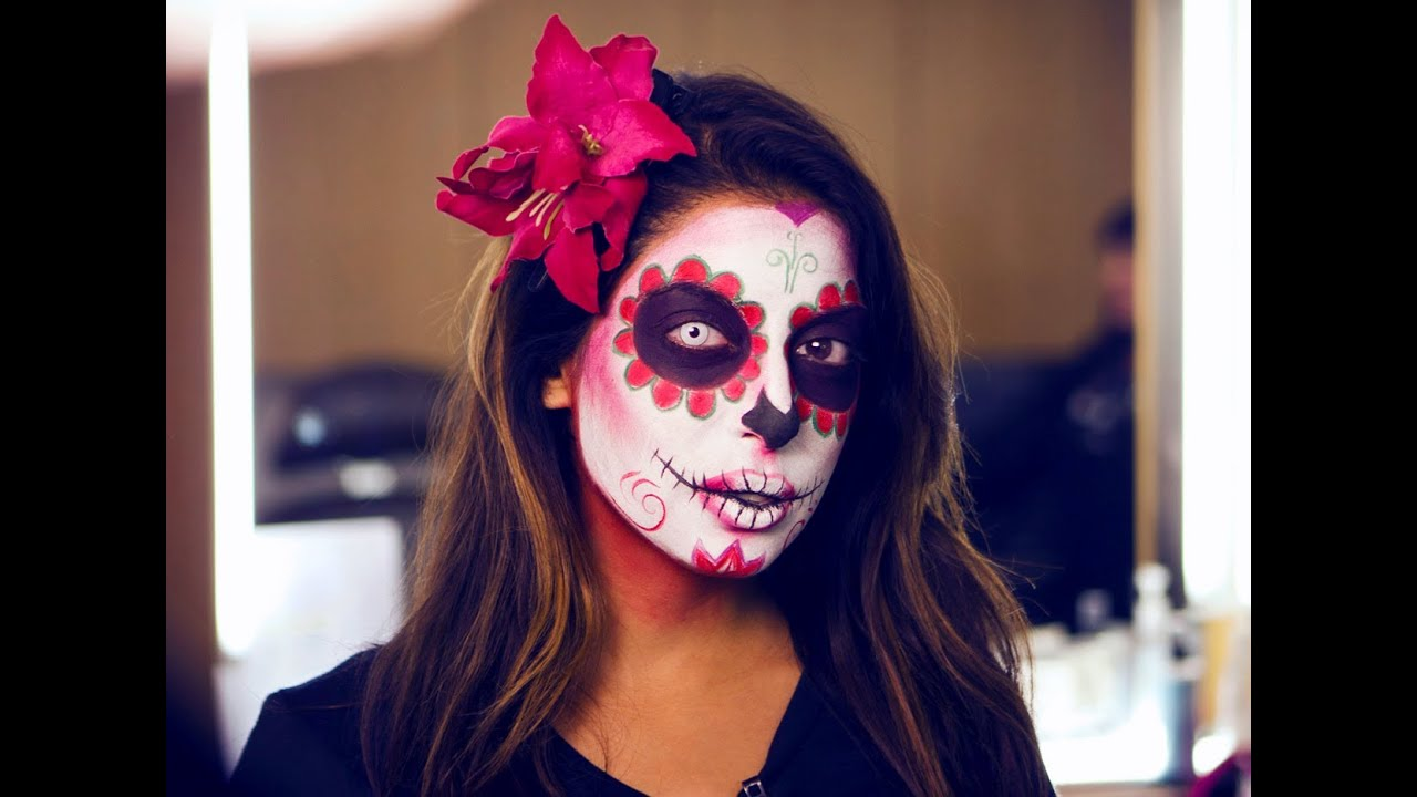 mexican sugar skull makeup tutorial mtv fora youtube. Black Bedroom Furniture Sets. Home Design Ideas
