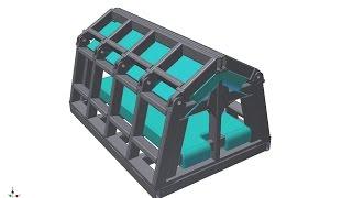 Кровать сейсмозащитная.    Anti-EarthQuake Bed