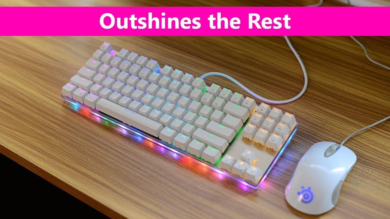 5684a9b89e1 MotoSpeed K87S RGB Backlight Mechanical Keyboard Review Best $50 Mechanical  keyboard for gaming