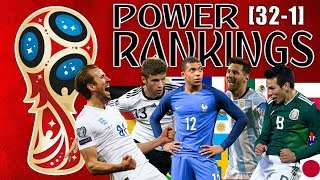 World Cup 2018 Power Rankings [All 32 Teams]