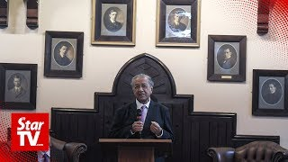 Dr M engages audience with wit and humour during Cambridge talk