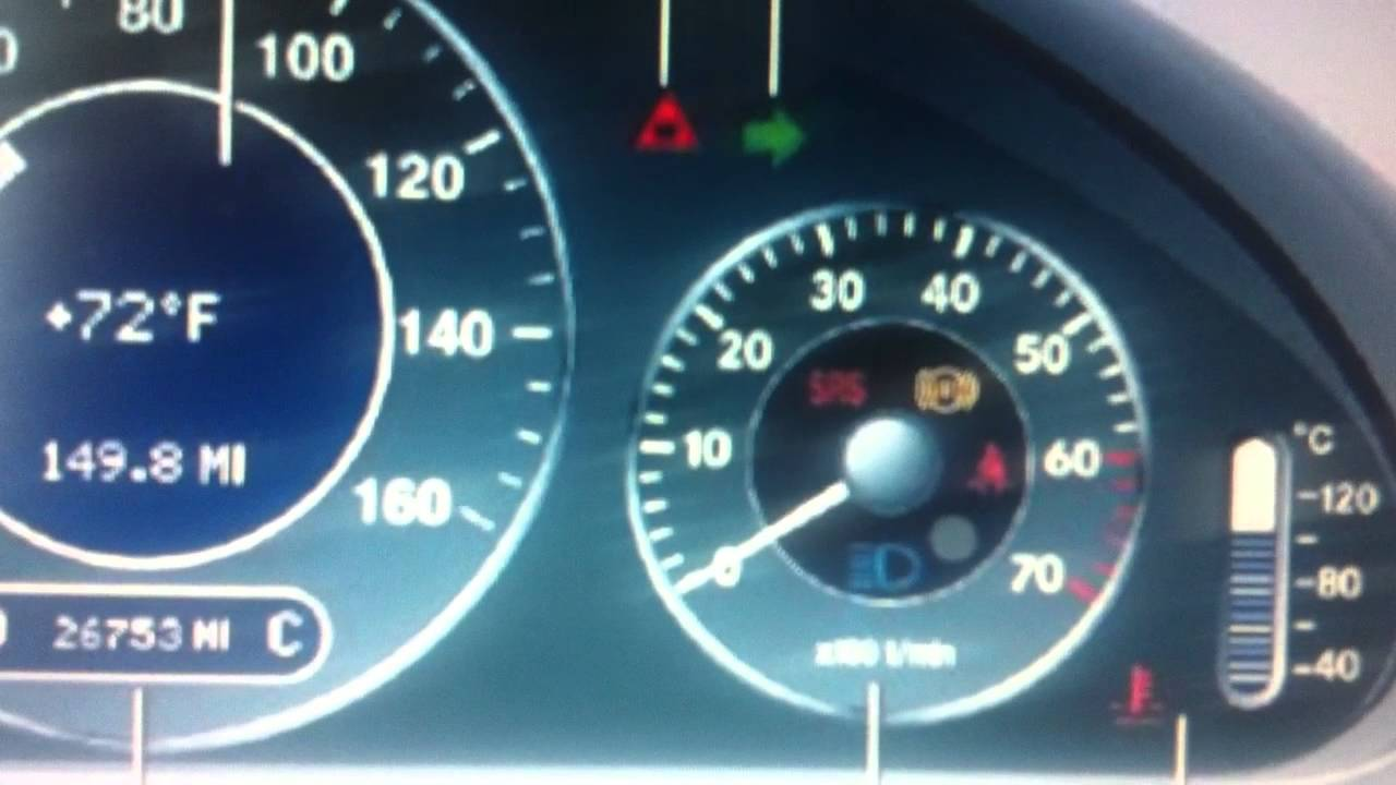 Mercedes E Class W211 Srs Airbag Warning Light Hot To