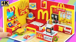 ❤️ How To Make Miniature McDonalds Bedroom from Cardboard ❤️ DIY Miniature Cardboard House #87 ❤️