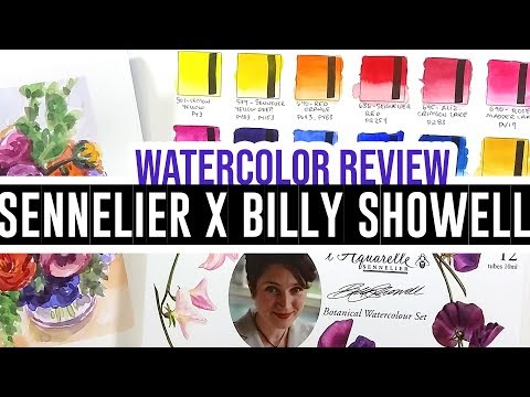 Review & demo - Sennelier x Billy Showell watercolor set