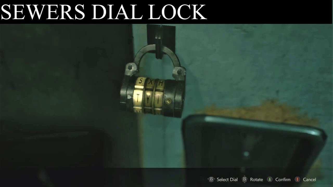 resident evil 2 remake sewer locker code