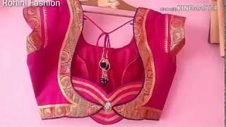 Semi Paithani saree designer back neck blouse| cutting and stitching back neck design