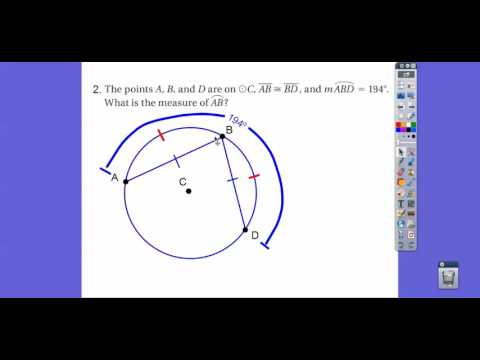 Review For Test on Circles - Module 19