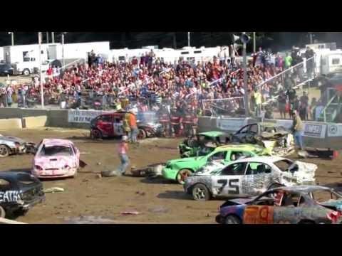 Midsize Cars Demolition Derby 2015 Greenwich NY Washington County Fair