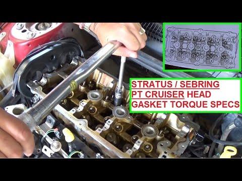2004 dodge 2 7 engine diagram 2000 club car wiring stratus / chrysler sebring pt cruiser 2.4 head gasket install and torque specs - youtube