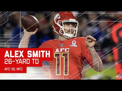 Alex Smith Finds Delanie Walker for the Toe-Tap TD! | 2017 NFL Pro Bowl Highlights