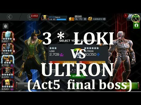 how to  beat act5 final boss classic ultron marvel contest of champion