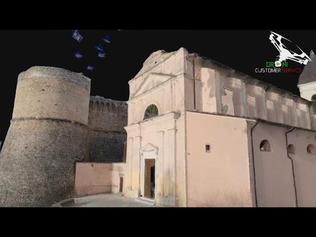 Fotogrammetria aerea con droni, ricostruzione e Animazione 3D Castello Orsini Scurcola Marsicana