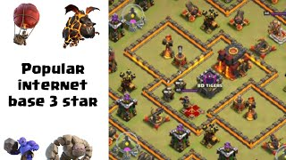 How to 3 star this popular internet base? | TH10 | Inferno Island | Clash of Clans