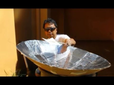 Diy Solar Cooker From Scrap How To Make Solar Parabolic