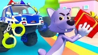 Police Truck Chases Big Bad Wolf   Police Cartoon   Nursery Rhymes   Kids Songs   BabyBus