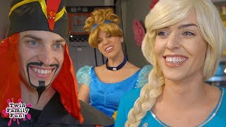 Elsa, Jafar, and Cinderella Bloopers and Outtakes!