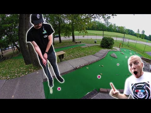 LUCKIEST HOLE IN ONE EVER! | MINI GOLF WITH FRIENDS #3