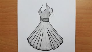 Güzel Elbise Nasıl Çizilir / How To Draw A Beautiful
