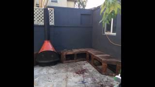 DIY Patio Outdoor Furniture Progress