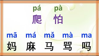 Learn Chinese Characters with pinyin pa, ma | Daily Communication in Chinese Language