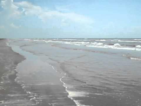 "Texas Vacation Galveston Island ""East Beach"" Scene"