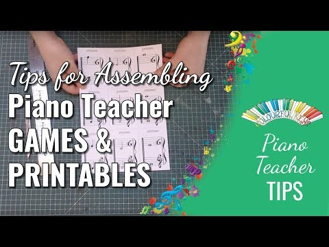 Tips for Printing, Trimming, Laminating and Assembling Piano Teaching Games
