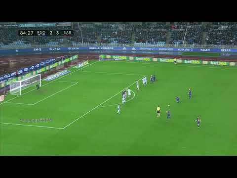 Golazo de Messi de tiro libre contra Real Sociedad