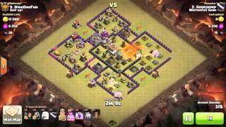 Clash of Clans - TH8 - Hero Healer, No Spell - War 109 vs Suit Up! - Gooroomp vs #9