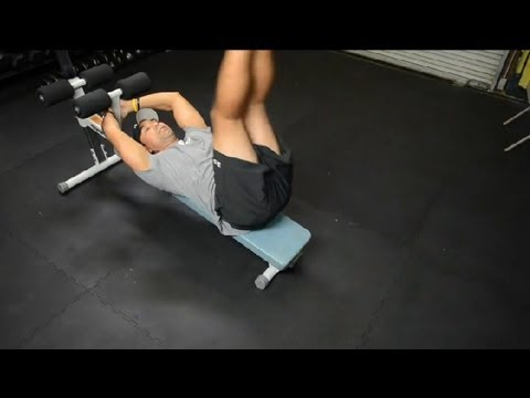 Leg Lift on an Ab Bench : Exercise Routines