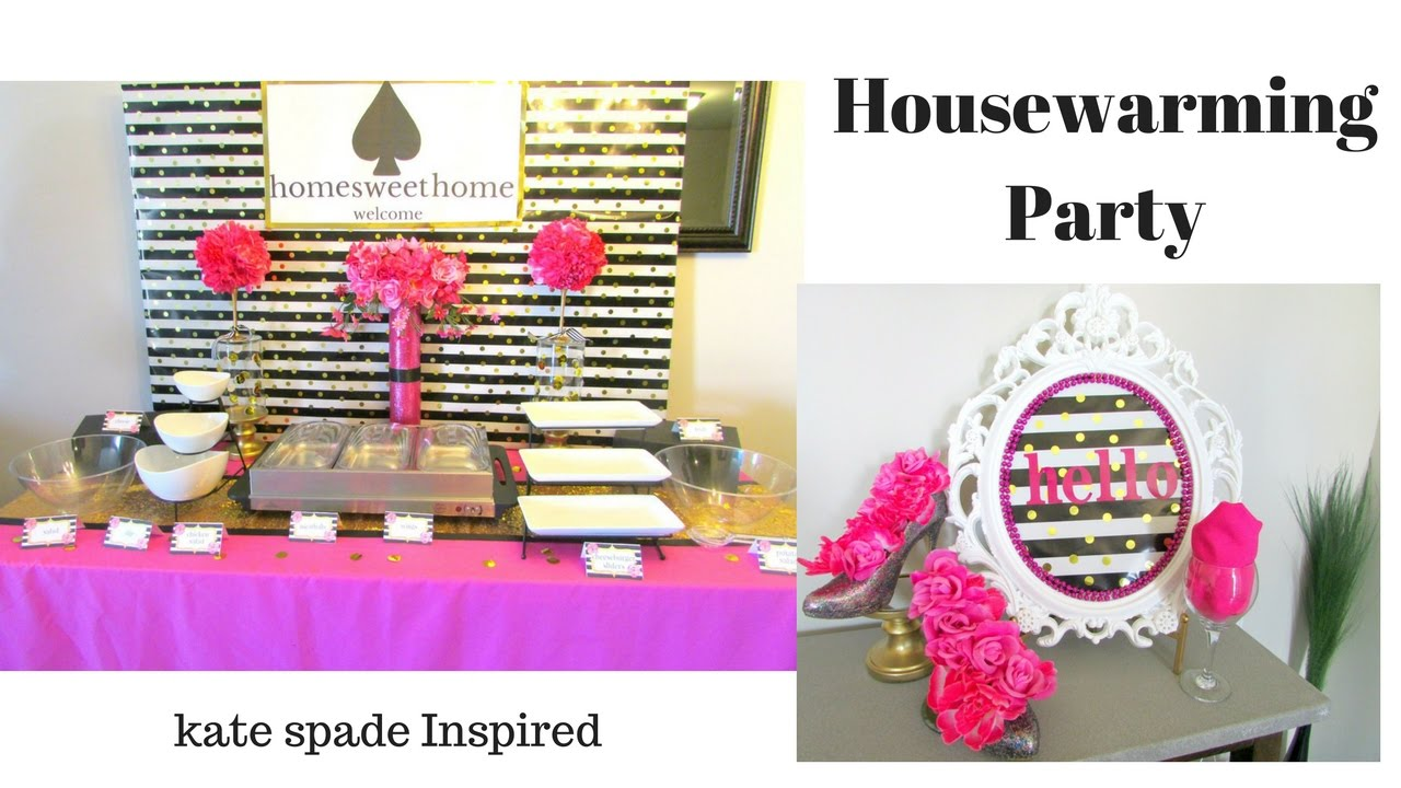 Kate Spade Decorating Tips: Housewarming Party~ Kate Spade Inspired