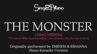 The Monster (Piano Karaoke Version) Eminem & Rihanna