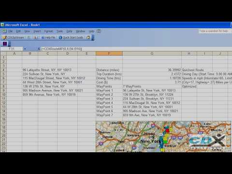 Route Optimization in Excel