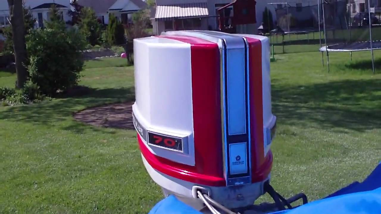 maxresdefault 70hp chrysler outboard cold start youtube