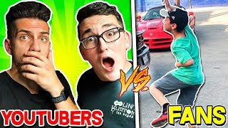 YOUTUBERS vs CRAZY FANS! (With Unspeakble & Sharkboy)