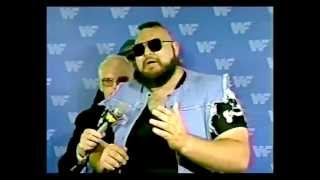 WWF One Man Gang promo on Hulk Hogan before Maple Leaf Gardens match