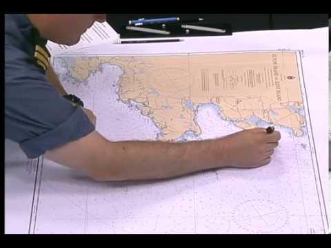 Mesurer des distances sur une carte marine