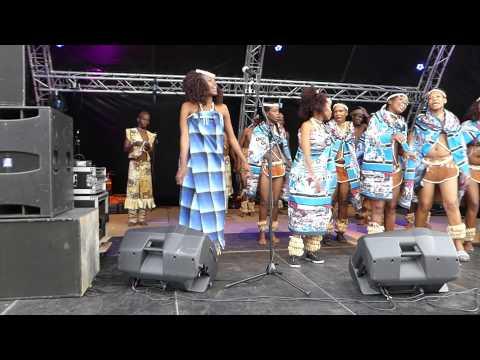 Ngwao Letshwao Performing Art, Botswana #2 on outdoor stage at 50th OpRoakeldais 2015