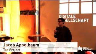 Jacob Appelbaum (Tor Developer) at Digitale Gesellschaft Jun 25, 2013